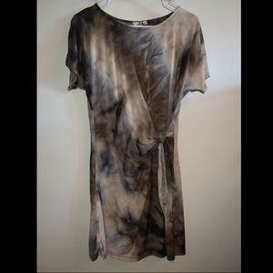 Shades of brown tie dye dress from Vici Dolls
